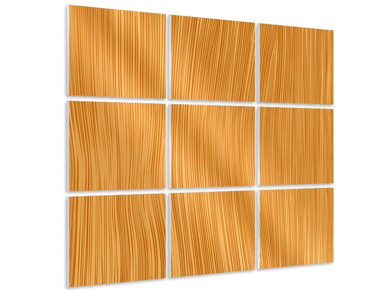 Hartschaumbild 9-teilig Wooden