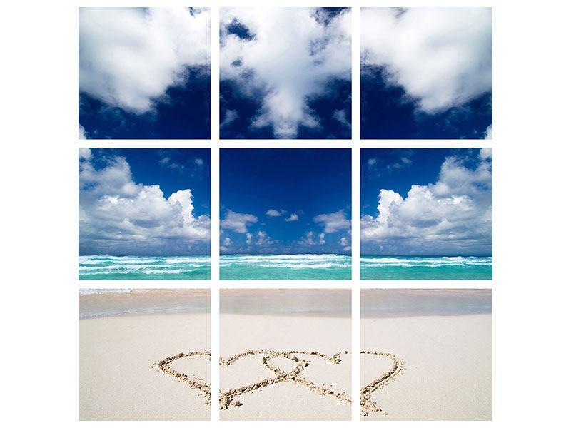 Hartschaumbild 9-teilig Strandliebe