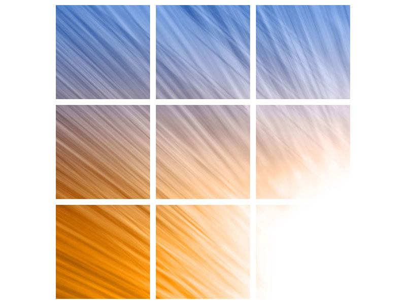 Hartschaumbild 9-teilig Abstraktes Lichterspiel