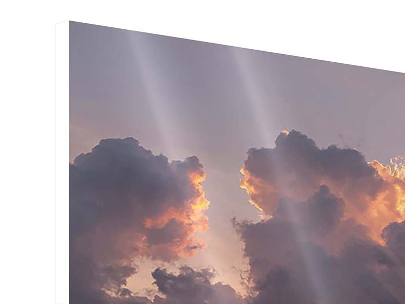 Hartschaumbild 9-teilig Packender Sonnenuntergang