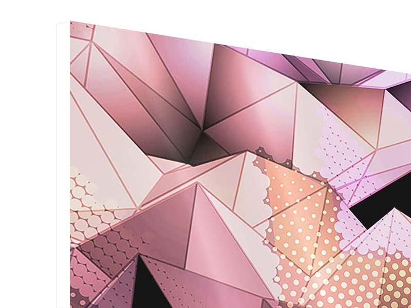 Hartschaumbild 9-teilig 3D-Kristallstruktur