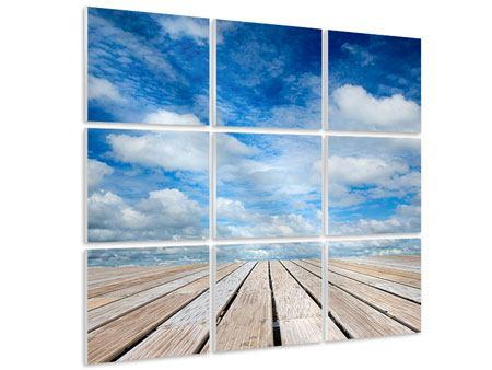 Hartschaumbild 9-teilig Hoch über den Wolken