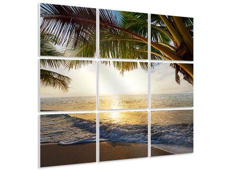 Hartschaumbild 9-teilig Strandsicht