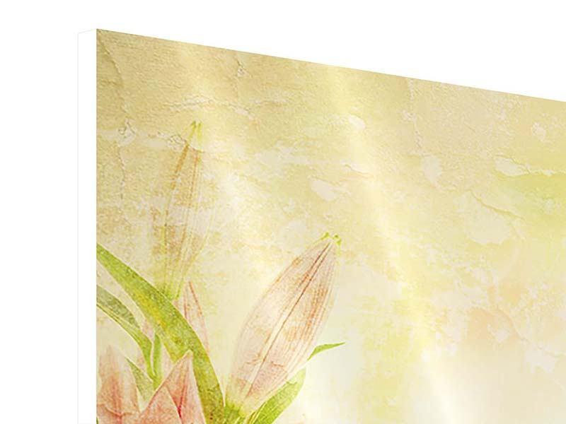 Hartschaumbild 9-teilig Lilien-Gemälde