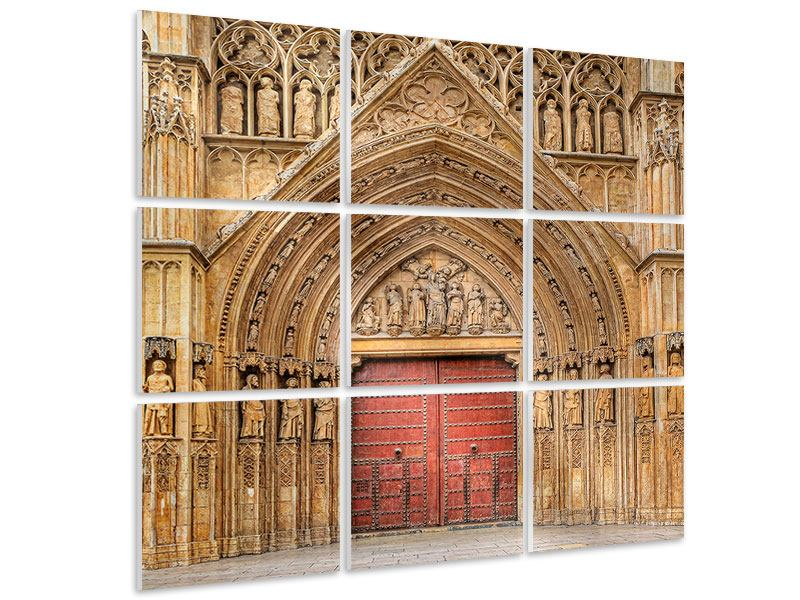 Hartschaumbild 9-teilig Kathedrale von Valencia