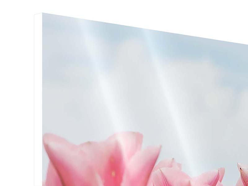 Hartschaumbild 9-teilig Zarte Tulpen