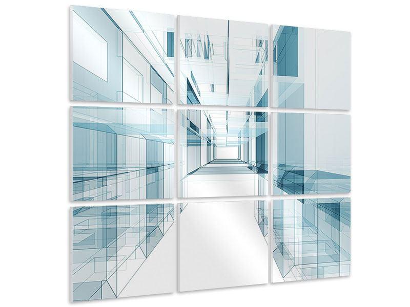 Hartschaumbild 9-teilig Raum der Räume