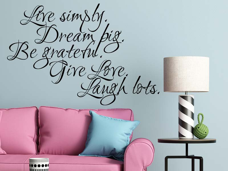 Wall Sticker Live Life!