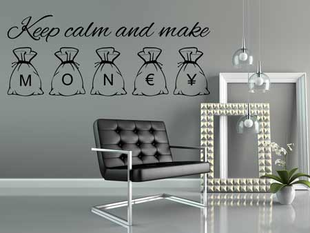 Wall Sticker Keep calm and make money