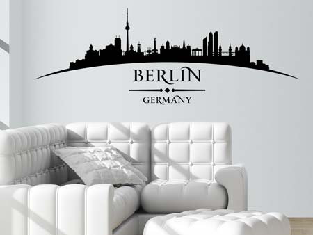 Wandtattoo Skyline Berlin
