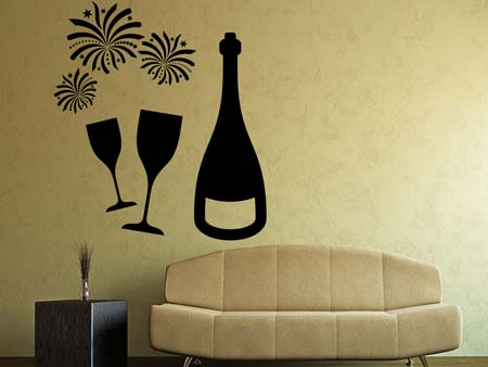 Wall Sticker Love Champagner