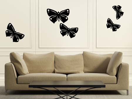 Wall Sticker 5 butterflies
