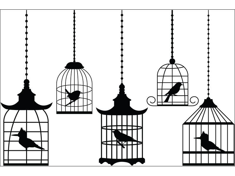Wall Sticker 5 birdcages