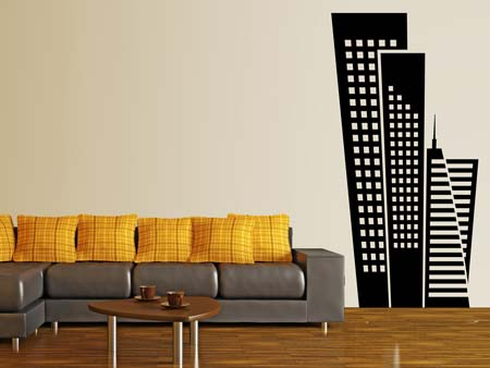 Wall Sticker imposing skyscrapers