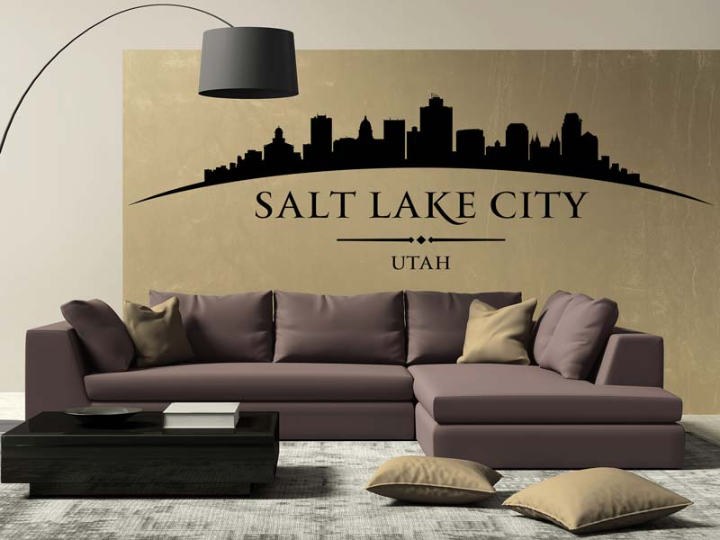 Sticker muraux Skyline Salt Lake City
