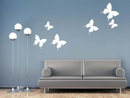Wall Sticker 6 butterflies