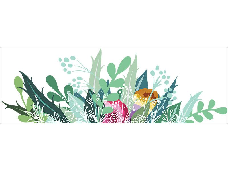 Wall Sticker Colorful flower meadow