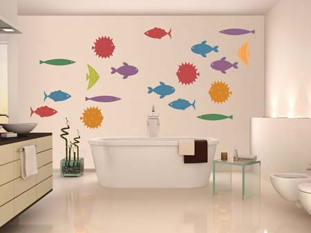 Wall Sticker Cute fish world
