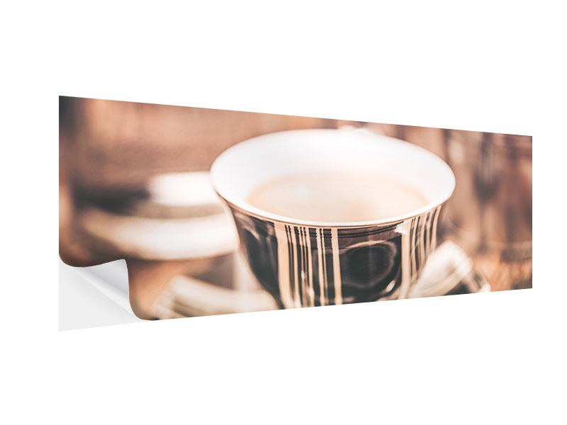 Klebeposter Panorama Der Kaffee ist fertig