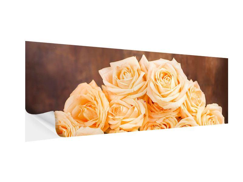 Klebeposter Panorama Die Rosenzeit