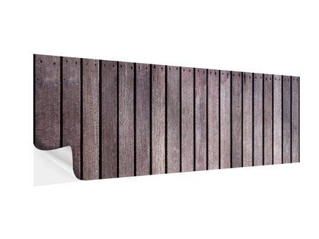 Klebeposter Panorama Holzwand