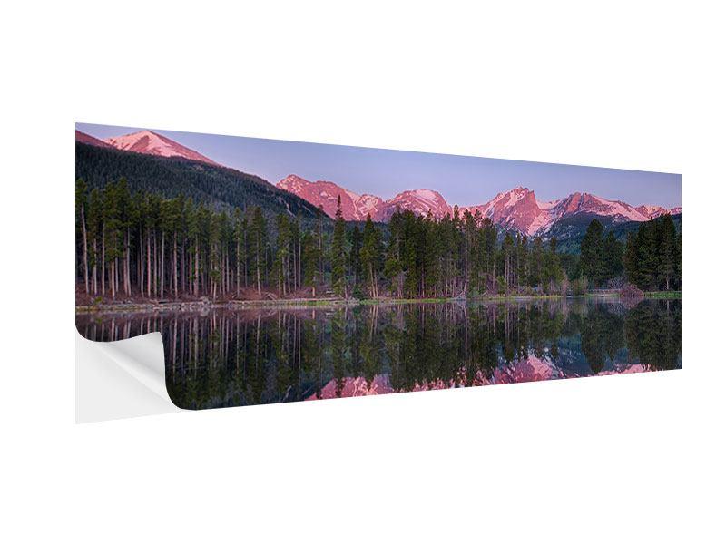 Klebeposter Panorama Sprague Lake-Rocky Mountains