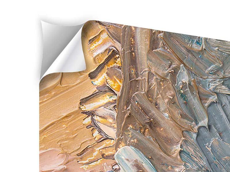 Klebeposter Panorama Ölgemälde