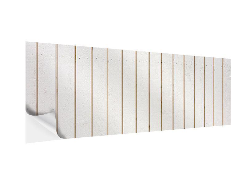 Klebeposter Panorama Mediterranes Holz