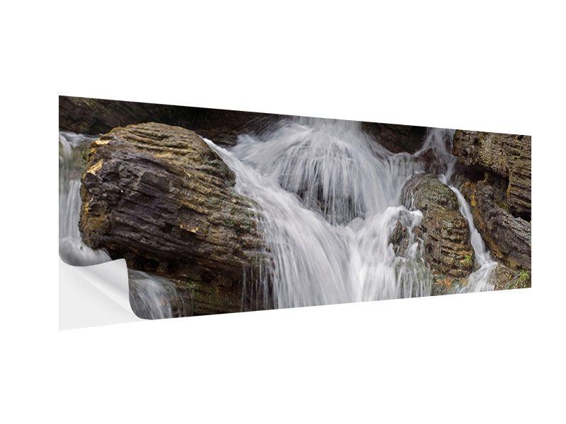 Klebeposter Panorama Wasserfall XXL