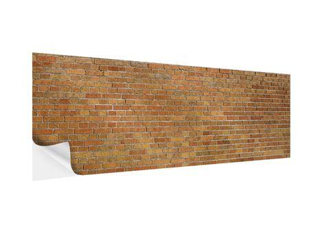 Klebeposter Panorama Backsteinhintergrund
