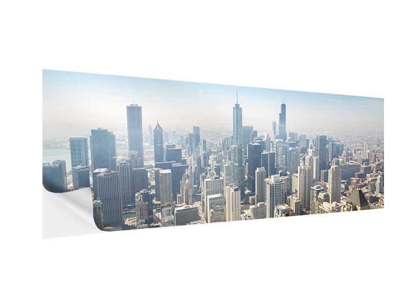 Klebeposter Panorama Wolkenkratzer Chicago