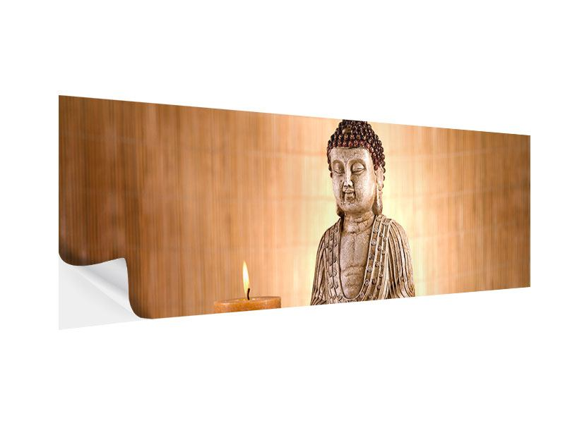 Klebeposter Panorama Buddha in der Meditation