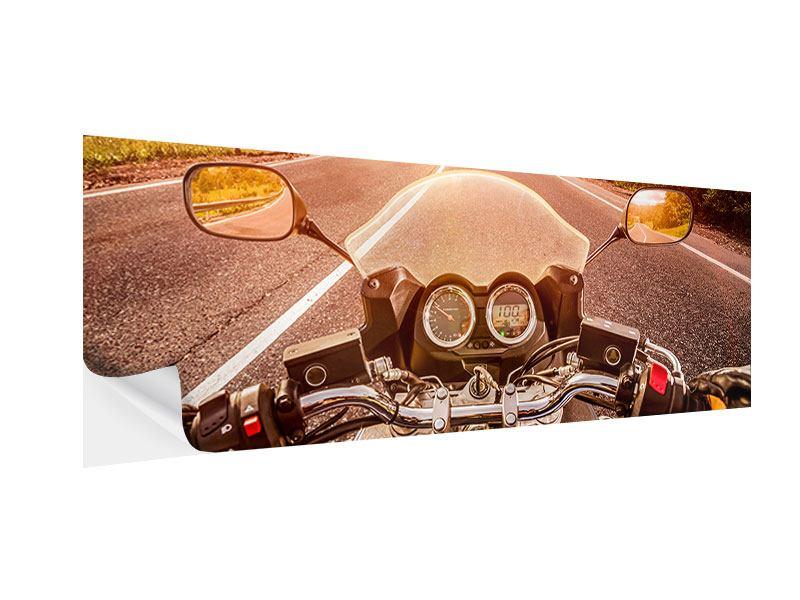 Klebeposter Panorama Motorrad-Tour