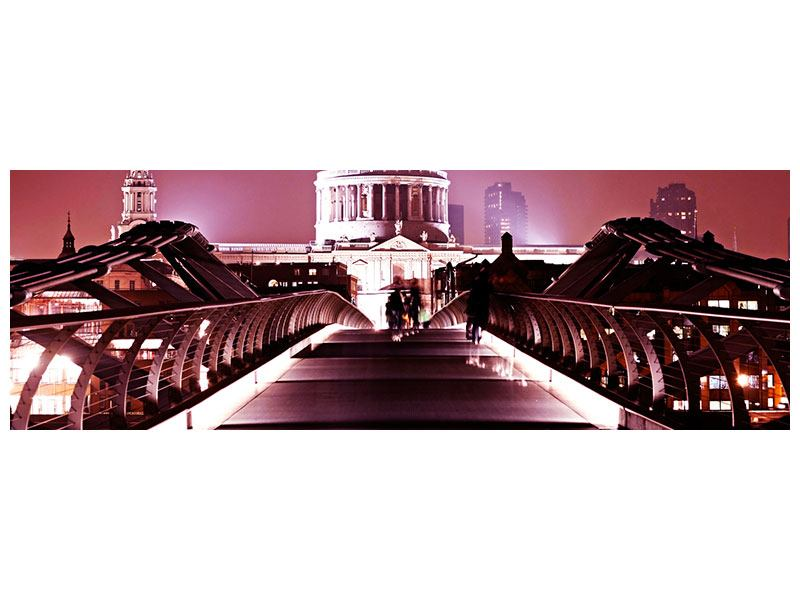 Klebeposter Panorama Millennium Bridge