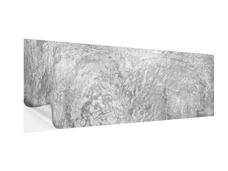 Klebeposter Panorama Wischtechnik in Grau