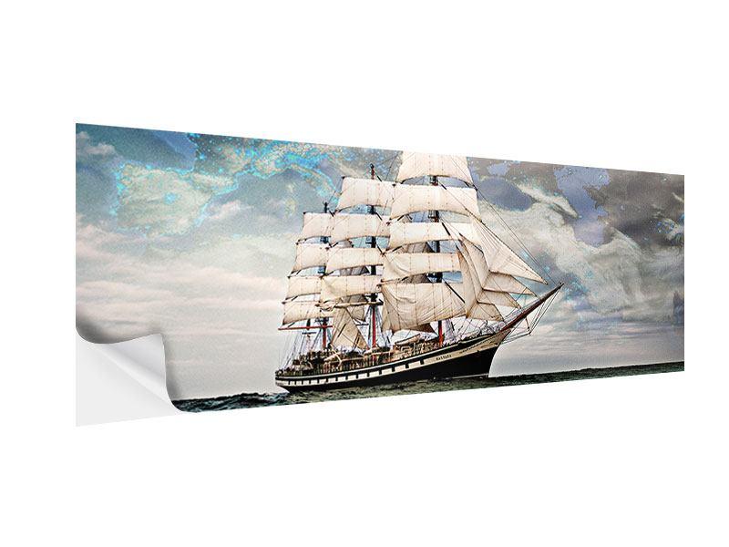 Klebeposter Panorama Segelschiff