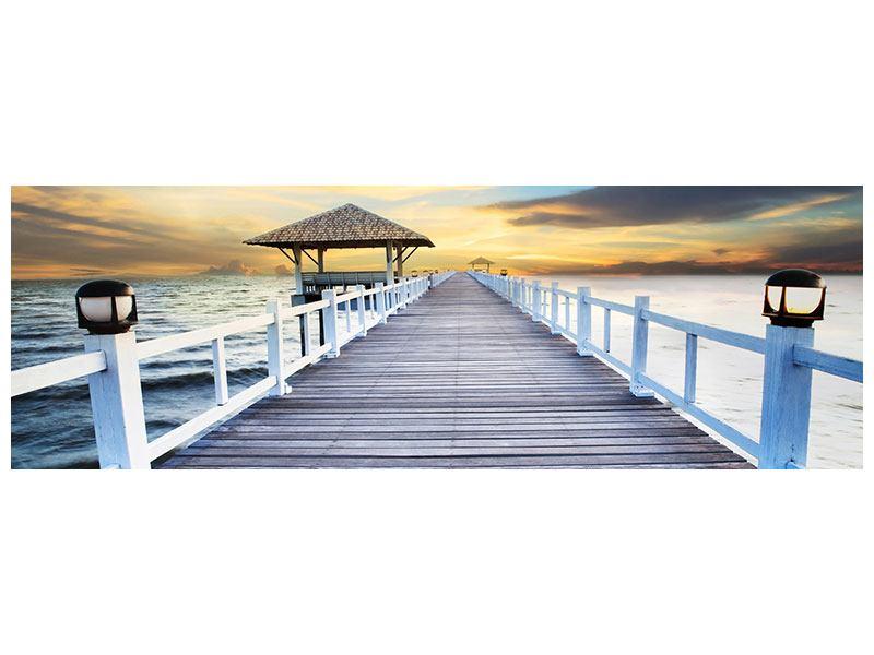 Klebeposter Panorama Die Brücke ins Meer