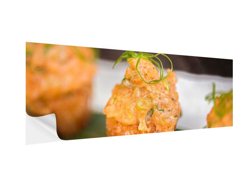 Klebeposter Panorama Asiatische Küche