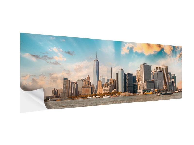 Klebeposter Panorama Skyline New York from the other Side