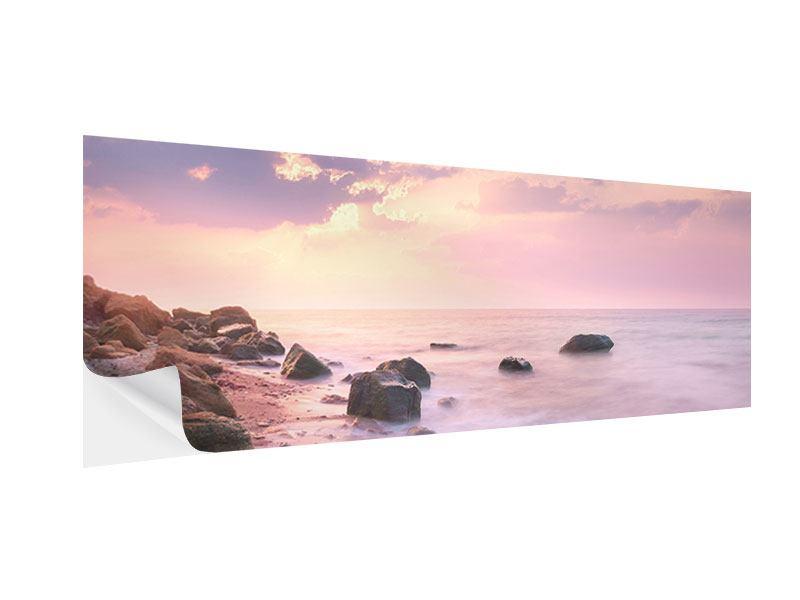 Klebeposter Panorama Sonnenaufgang am Meer
