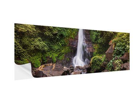 Klebeposter Panorama Wasserfall Bali