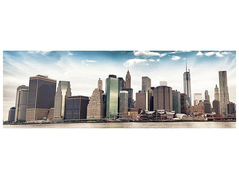 Klebeposter Panorama NYC From The Other Side