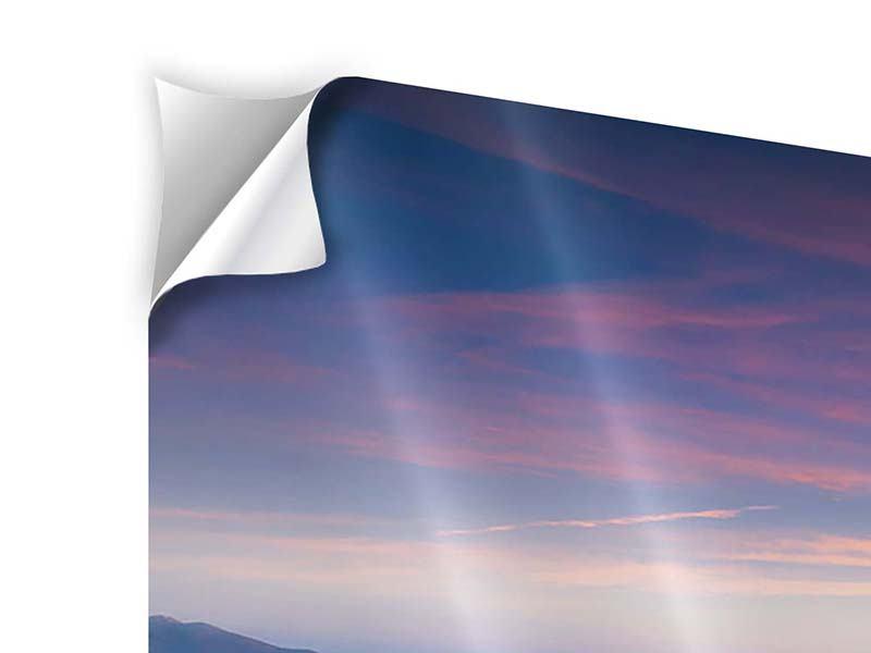 Klebeposter Panorama Sonnenuntergang in den Alpen