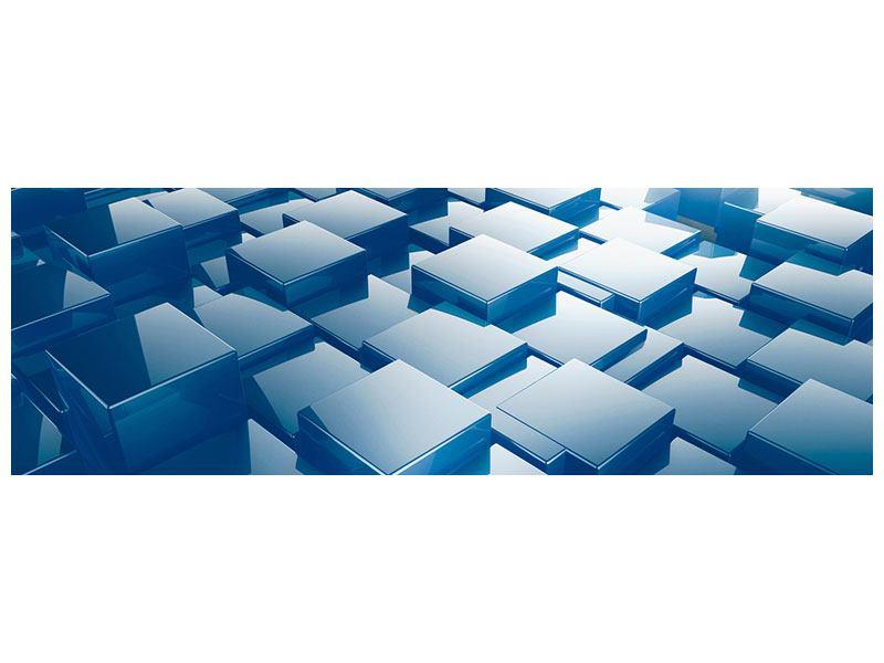 Klebeposter Panorama 3D-Cubes