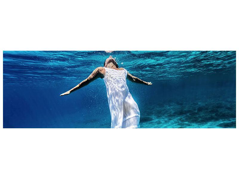 Klebeposter Panorama Schönheit unter Wasser