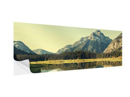 Klebeposter Panorama Der Bergsee
