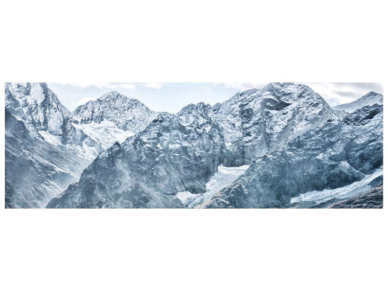 Klebeposter Panorama Gigantische Berggipfel