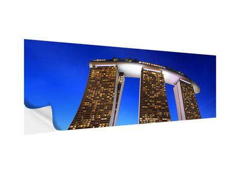 Klebeposter Panorama Wolkenkratzer Singapur