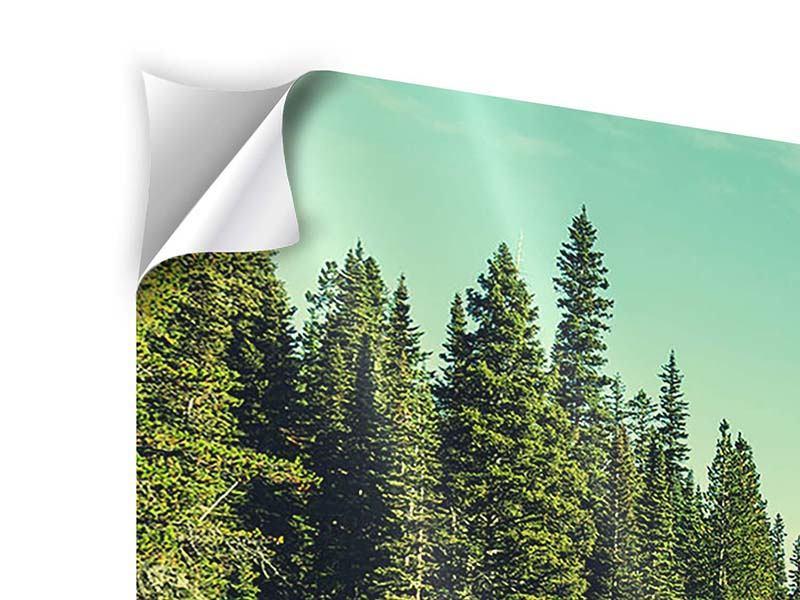 Klebeposter Panorama Die Musik der Stille in den Bergen