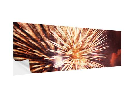 Klebeposter Panorama Close Up Feuerwerk